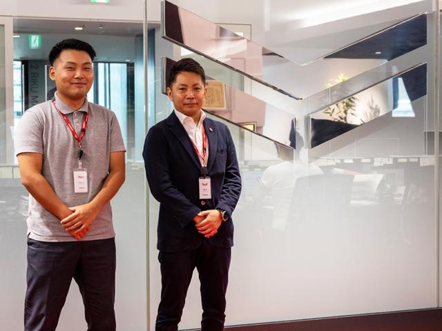 ヤンマーホールディングス株式会社 総務部 総務グループ 末廣 学様(右)、阪本 大生様(左)